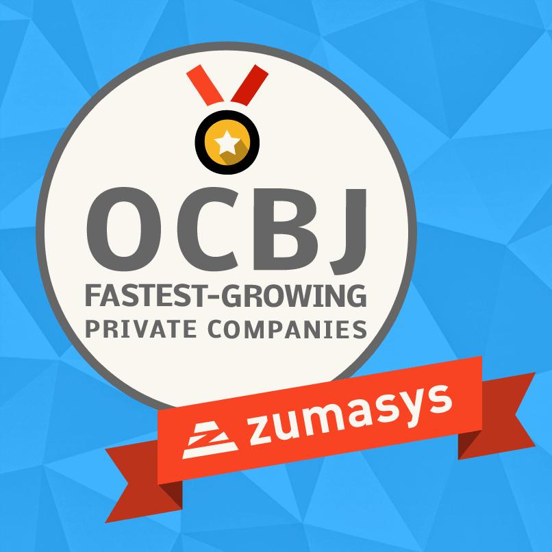 Zumasys Fastest Growing Company OC