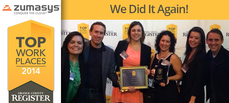 OC Register Top Workplaces 2014 | Zumasys